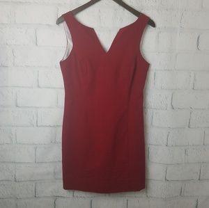Lauren James | Red Sheath Seersucker Dress